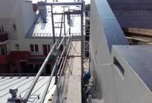 rusztowanie na dachu