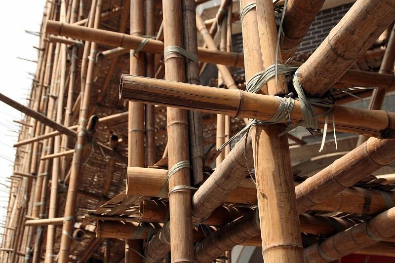 bambusowe rusztowanie